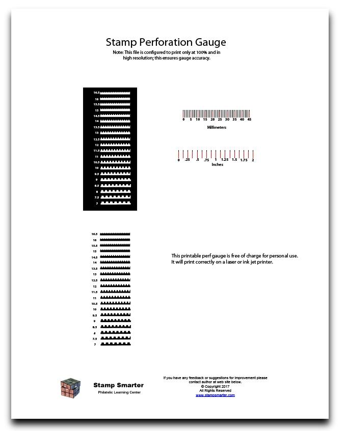 Stamp Smarter - Printable Perforation Gauges